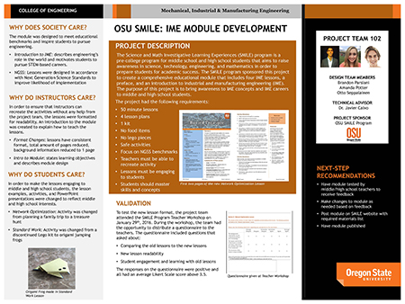 OSU SMILE Program project poster