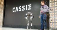 Cassie robot on stage